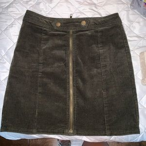 Dark green corduroy skirt